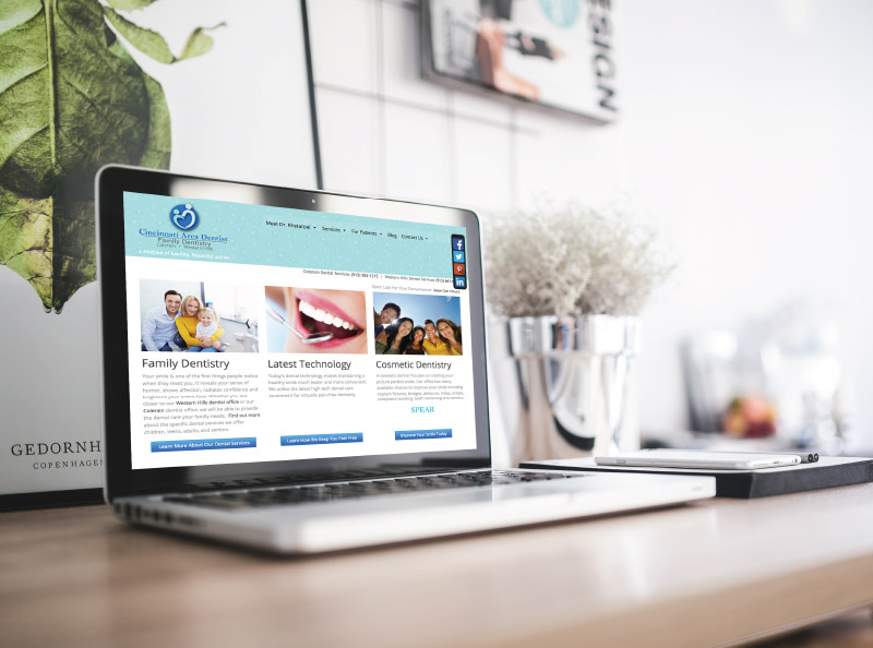 Web design - Cincinnati Area Dentist