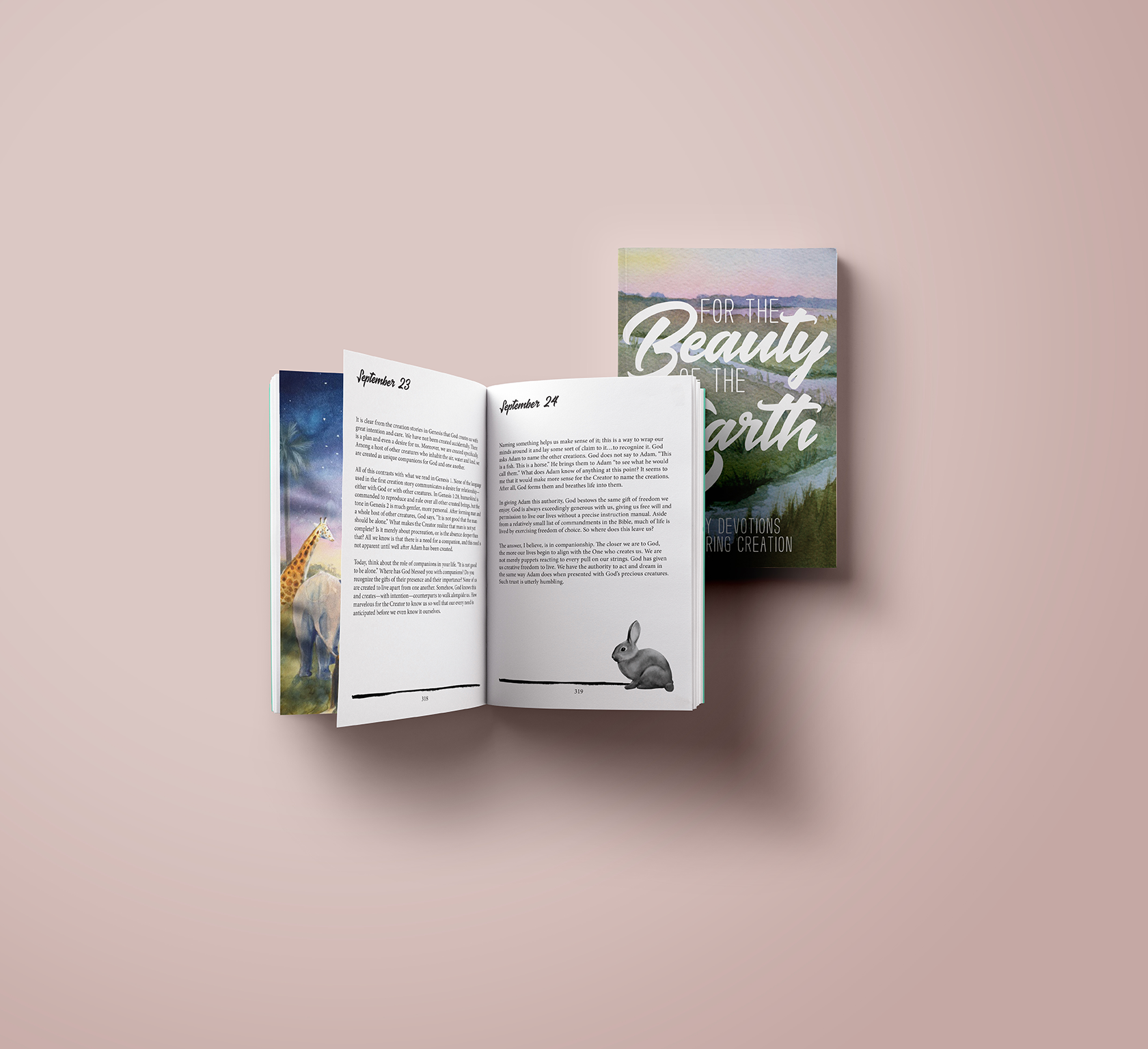 For the Beauty of the Earth Book Cover Design, layout