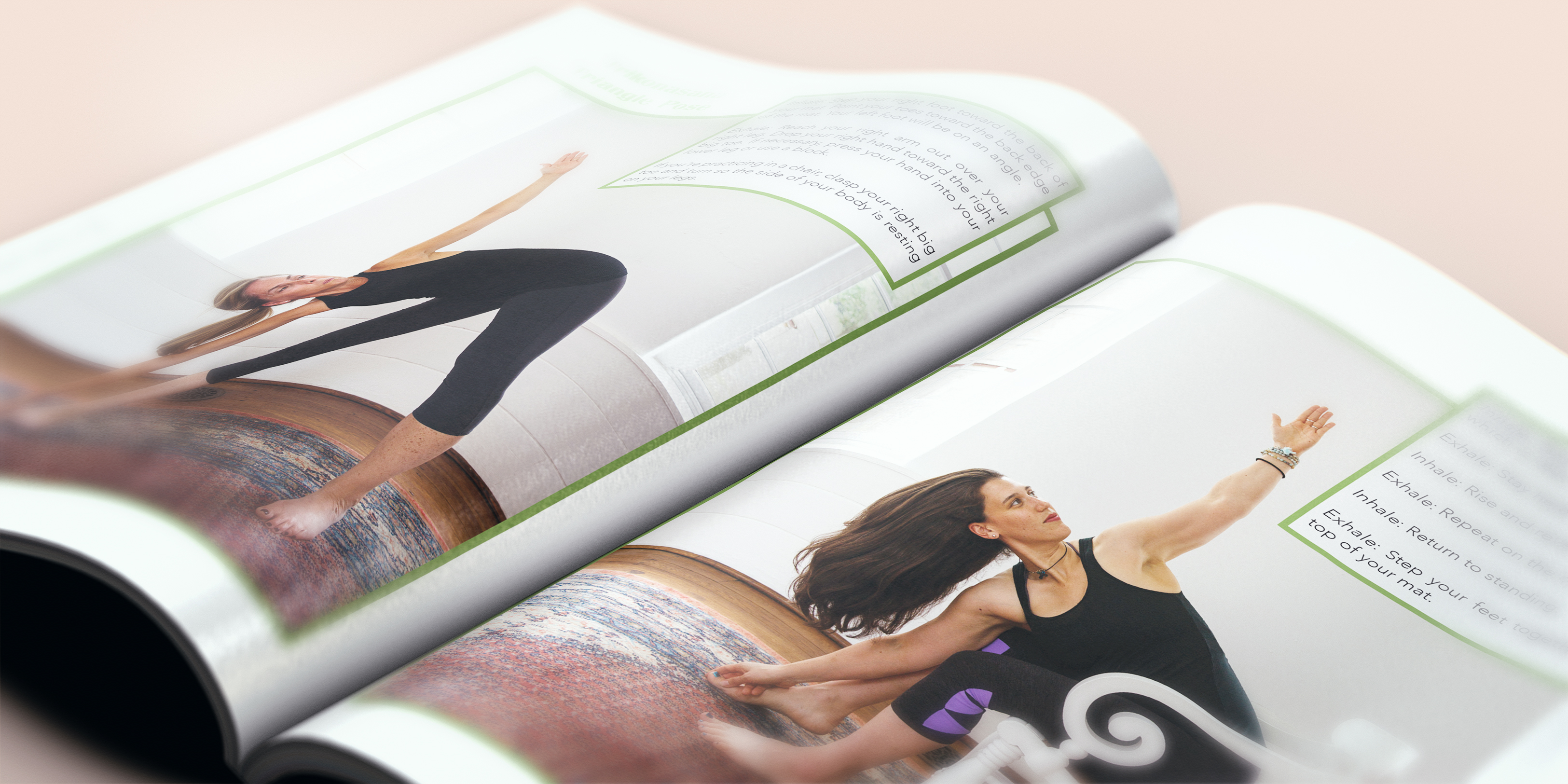 Inside book layout design for Christian yoga book