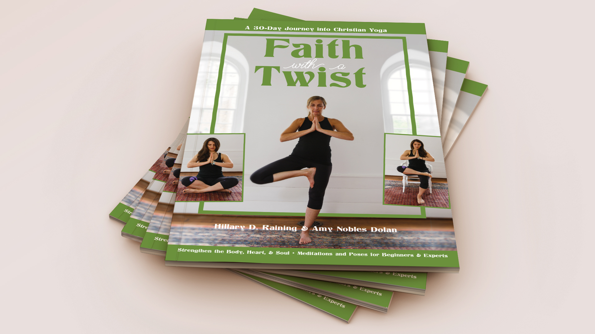 Stack of Faith with a Twist, Christian yoga books
