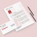 Logo Design featured on letterhead and envelope
